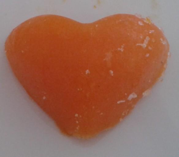 Ein Karottenherz für die Besucher!